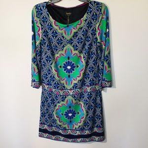 Laundry By Shelli Segal Geometric Mini Dress Sz XS